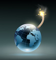 Planet earth as a bomb vector image