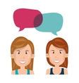 people talking design vector image