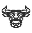 bull head icon on white background vector image