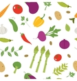 Farm vegetables pattern vector image