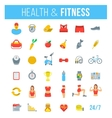 Fitness gym and healthy lifestyle flat vector image