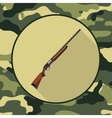 flat icon shotgunitem in camouflage vector image