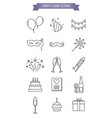 party line icons vector image