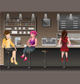 people in bar vector image