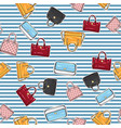 set of different women handbags endless texture vector image