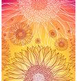 summer flower background vector image