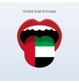 United Arab Emirates language vector image