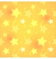 Yellow blurred shining stars seamless pattern vector image