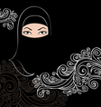 Beautiful arab woman silhouette vector image vector image