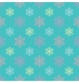 Candy snowflakes pattern vector image