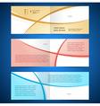 brochure design template booklet album curve line vector image vector image