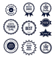 Premium quality best choice labels set isolated vector image