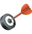 dart icon vector image vector image