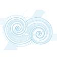 double twirls vector image vector image