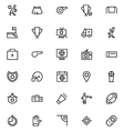 Football Line Icons 4 vector image