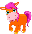 Cute little pony vector image vector image
