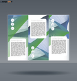 Abstract print A4 design in 3 parts vector image