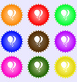Balloon Icon sign Big set of colorful diverse vector image