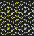 bee seamless pattern bright background for vector image