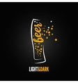 beer glass bubbles splash menu background vector image