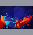 colorful geometric abstract background with copy vector image