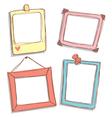 Cute frame vector image