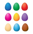 easter color eggs vector image