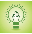 Green recycle icon make filament of an eco bulb vector image