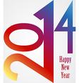 Happy New Year 2014 rainbow vector image