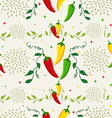 Mexican chili pepper pattern vector image