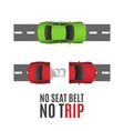 Safety belt conceptual background vector image