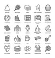 sauna steam bath line icons bathroom equipment vector image
