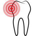 Sick tooth vector image
