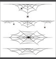 spiders and cobweb on white background vector image