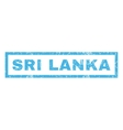 Sri Lanka Rubber Stamp vector image
