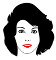 Women Face and Hairstyle vector image