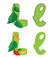 letter L leafs vector image vector image