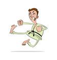 karate man cartoon vector image