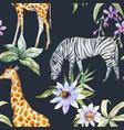 tropical wildlife pattern vector image