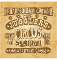 Urban circus vintage style poster vector image