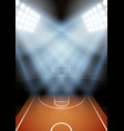 Background for posters night basketball stadium in vector image
