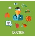 Medical flat infographic concept vector image vector image