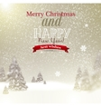 Beautiful Christmas background with blurred vector image vector image