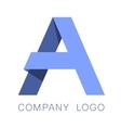 Letter A logo concept vector image vector image