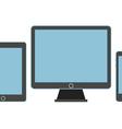 Modern gadgets on a table Flat design mockup vector image vector image