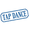 tap dance square blue grunge vintage isolated vector image