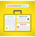 business infographic template with a case vector image