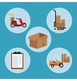 delivery concept collection equipment shipping vector image