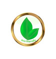 eco friendly website icon vector image