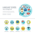 Foreign language learning web design concept for vector image
